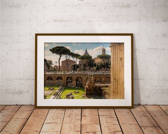 Metal Print - Ancient Rome, Photography - Metalic Aluminum Print, Fine Art, Wall Art, Nature Print, Home Decor, Photography