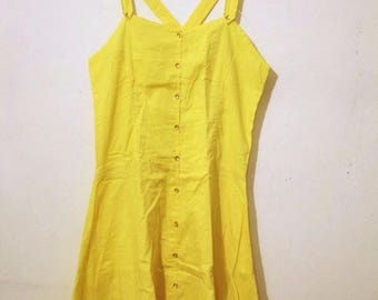 Yellow Dress with Pure Cotton Fabric