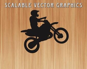 dirt bike svg, motorcycle cut file, dirtbike svg wireframe, dirtbike outline, engravable motorcyle, dirtbike rider, dirt bike, shirt design