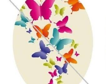 18x25mm multicolores2 butterflies