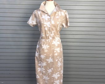 Vintage dress // Hawaiian print // Montgomery Ward