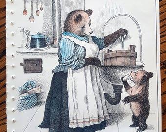 Vintage Little Bear Page/Children's Books/Nursery Decor/Baby Shower Decor/Little Bear with Mother