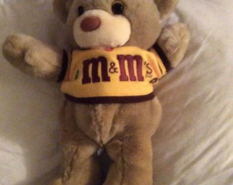 M & M collectible stuffed bear 1987
