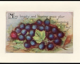Bounty and Blessing Thanksgiving Vintage Greeting Card