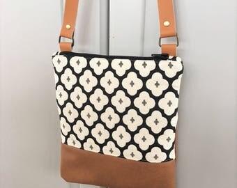100% leather shoulder bag handbag hand-made to order