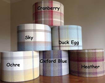 Tweed Lampshade Tweed Lamp shade Tartan Lampshade Balmoral Highland Tweed Light Shade Tartan Lamp shade Large Lampshade Drum Lampshade