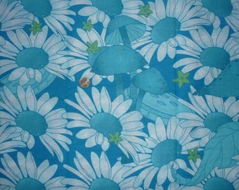 "Fabric cotton theme ""Flowers Daisies"""