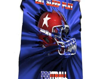 Eat Sleep Play Football Fleece Blanket / Throw / Tapestry