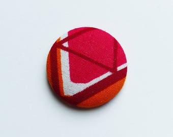 Pink & orange wax #8 * 2,8 cm magnet
