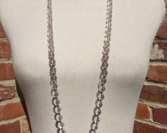 Pure Light - Crystal Wrap Necklace - Genuine Crystal Quartz & Pure Silk Thread - Dress Up Collection - Dressy Jewelry - Dressy Gemstones