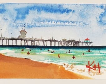 Huntington Beach Pier Framed