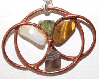 copper and beautiful angel pendant gemstones