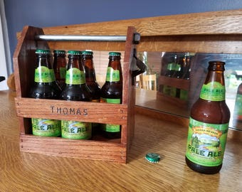 Oak Beer/Soda Carrier