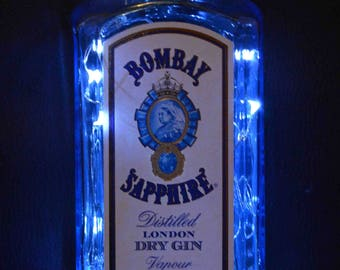 Gin Bottle Lamps - Bombay Sapphire Light