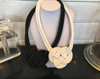 Small White Rope Necklace