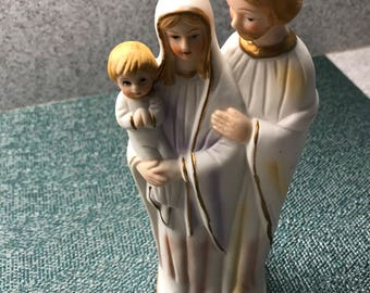 Religious statue of Jesus Mary and Joseph