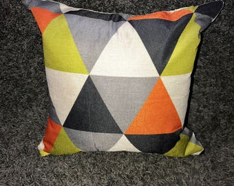 Asymmetrical Print Pillow