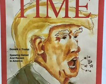 TIME Parody Postcards - Trump Spews as Racist of the Year