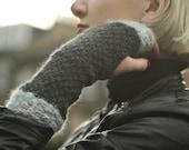 Fingerless gloves knit pa...