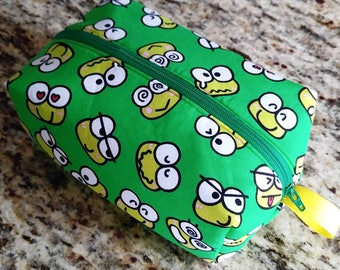 Green Kerropi Print Zippered Pouch Bag