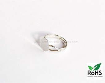 10mm - Silver colored - 10 or 100 Rings
