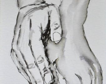 """Picture"" hands ""in ink."