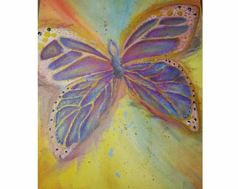 Acrylic Butterfly Painting