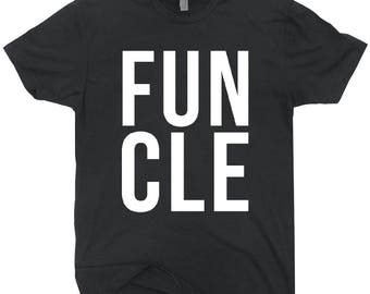Funcle T-shirt Black Tee Shirt Fun Uncle Gift For Him
