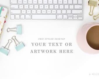 Desktop Styled Stock Photography - Stock Photos - Office Stock Images - keyboard styled stock photography