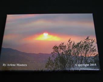 Cornville, AZ. Sunset on Small Canvas Wall Decor