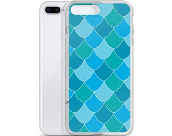 Blue Mermaid Scale iPhone Case