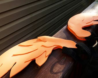 Orange Three-Layer Lightweight Angel Wings