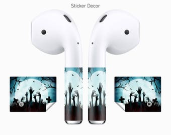 AirPods Stickers Zombie, 2-Sets, Wraps, Skin, Cover, Decal