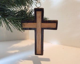 Wooden Christmas Ornament - Cross