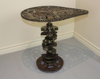 Metal art table