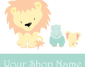 Cute Etsy Shop Icon, Etsy Shop Banner Set, Kids Shop Banner, Etsy Cover Banner, Etsy Avatar, Kids Banner Set, Etsy Shop Design, CH01