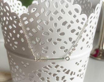 925 sterling silver arrow pendant necklace