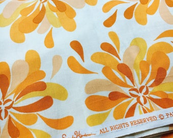 Sandi Henderson for Michael Miller Fabrics, Farmers Market, Petal Party in peach. Sold by the FQ.