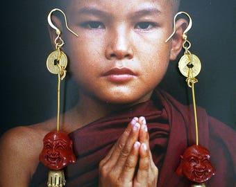 EARRINGS TIBETAN INFLUENCE