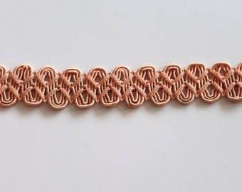 Pretty lace salmon color 25 mm X 1, 85 m