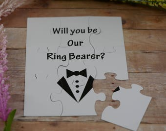 Will You Be my Ring Bearer, Will You Be my Groomsman , puzzle invitation, puzzle proposal invitation
