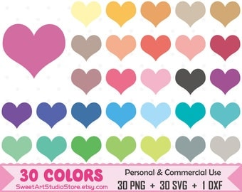 Heart Clipart, Iove planner SVG Silhouette Cricut Cut File Commercial Use (Png Svg Dxf)