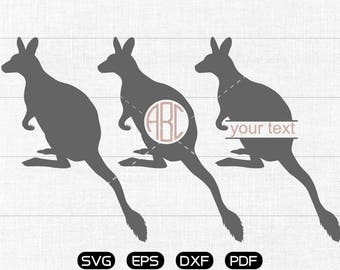kangaroo Svg, kangaroo Clipart, Monogram Frame cricut, cameo, silhouette cut files commercial & personal use
