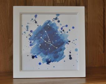 Taurus Star Sign Framed Artwork