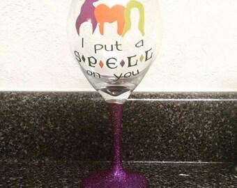Hocus Pocus wine glass