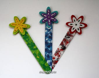 Embroidered felt bookmarks
