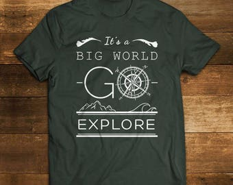 Explorer Cotton T shirt - Alkimia's T shirt - hiking Tee - Compass T Shirt