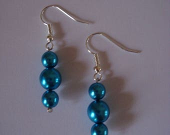 Earrings dangle turquoise and fancy