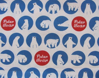 fabric cotton bear 45cm x 55cm
