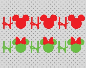 Disney svg, Mickey svg, Minnie svg, Christmas svg, Disney Cricut, Mickey Cricut, Minnie cricut, ho ho ho svg, Christmas cricut